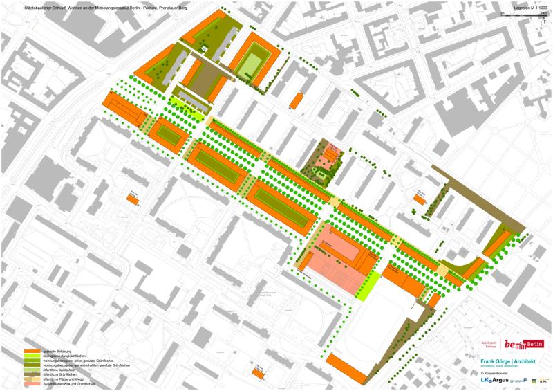 Michelangelostraße Lageplan