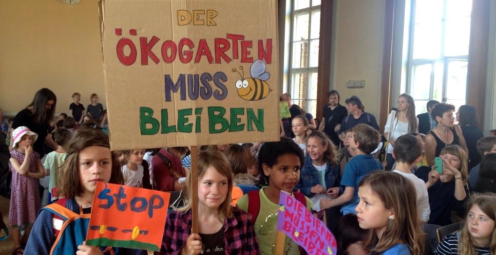 Protest der Grundschüler in der BVV Pankow (Foto: PBN)
