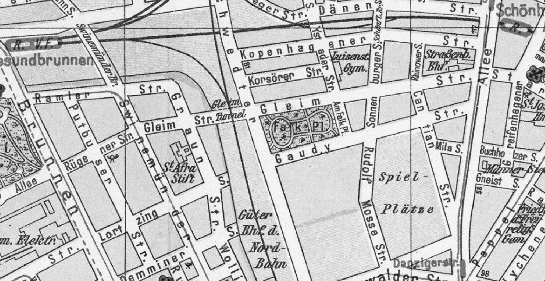 Plan Rudolf Mosse Straße