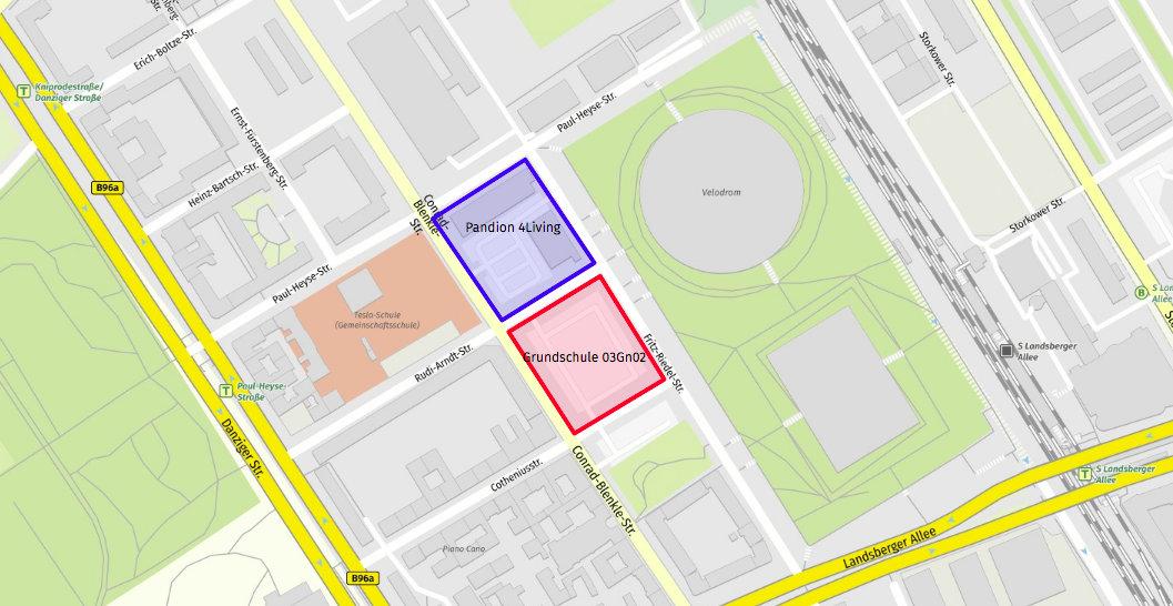 Karte Neubau Conrad-Blenkle-Straße
