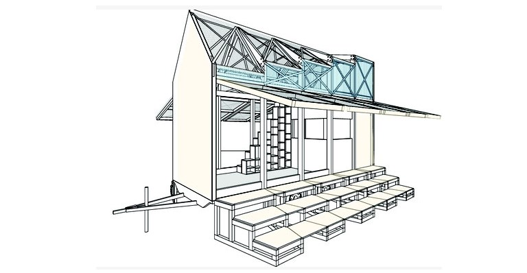 So soll das Kulturmarktmobil dereinst aussehen (Skizze: KulturMarktHalle Berlin e.V.)