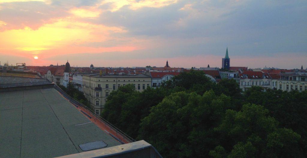 Prenzlauer Berg Sonnenuntergang