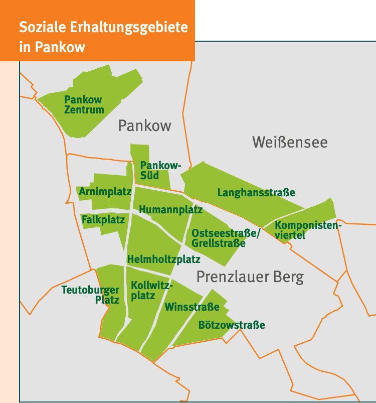 soziale Erhaltungsgebiete Pankow / Quelle: Bezirksamt Pankow