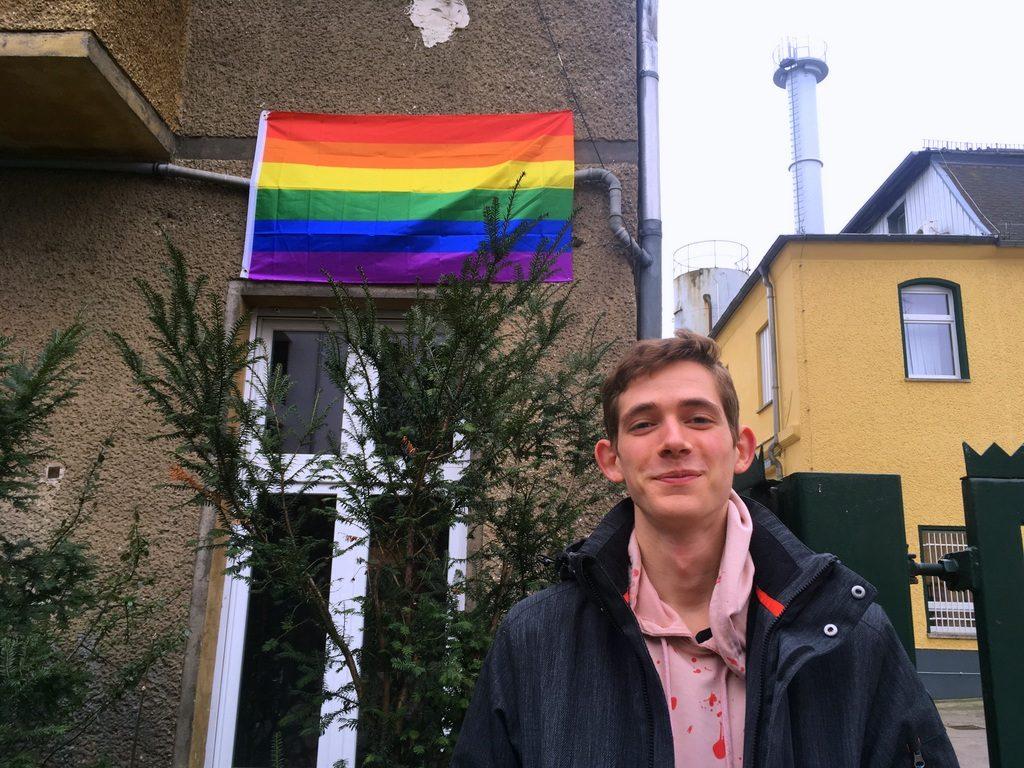 Regenbogenflagge Thulestraße Jo Heidner