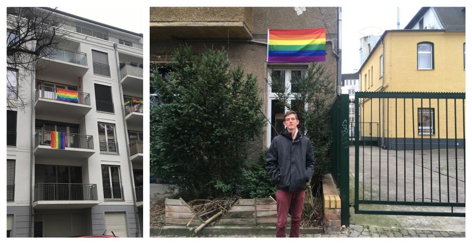 Regenbogenflagge Thulestraße