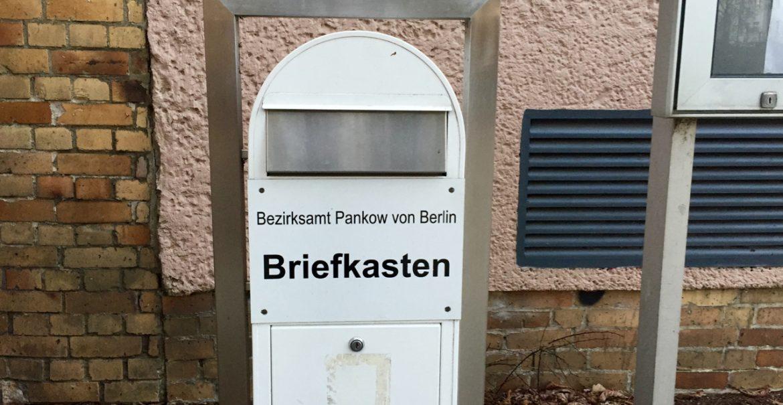 Briefkasten Bezirksamt Pankow