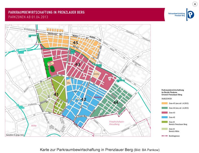 Parkzonen in Prenzlauer Berg Quelle: Bezirksamt Pankow