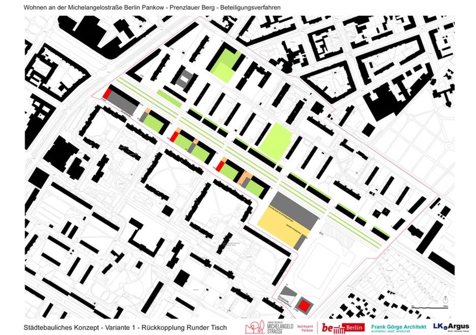 Siegerentwurf Michelangelostraße