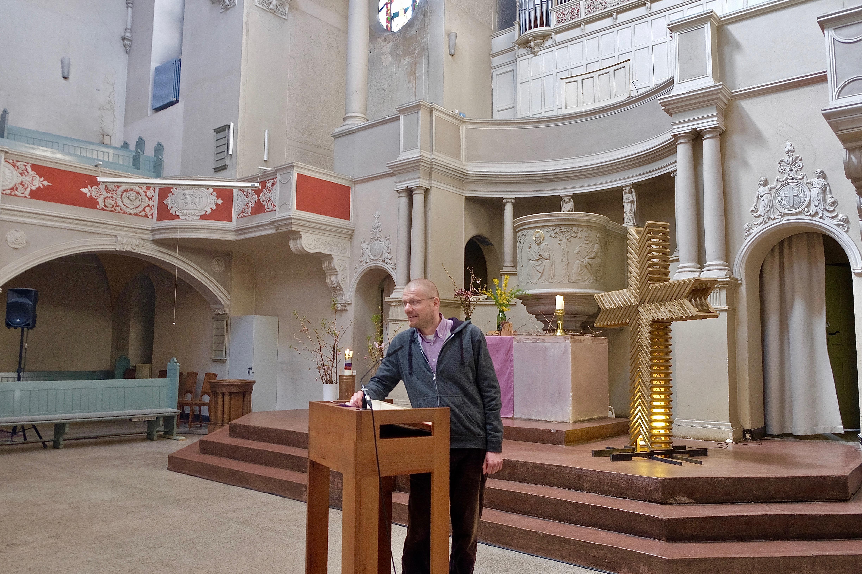 Carsten Albrecht in der Segenskirche