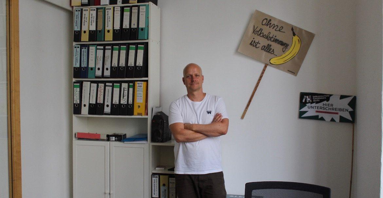 """Oliver Wiedmann, Leiter """"Mehr-Demokratie"""" Büro Berlin"""
